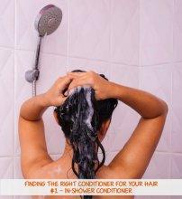 kobieta myjąca włosy pod prysznicem